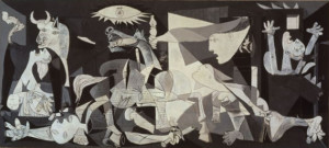 By PICASSO, la exposición del Reina-Prado. Guernica is in the collection of Museo Reina Sofia, Madrid.Source page: http://www.picassotradicionyvanguardia.com/08R.php (archive.org)
